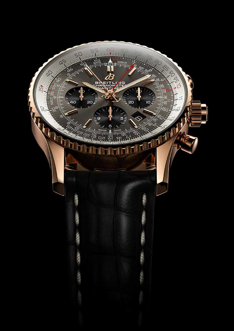 Iconic Replica Breitling Navitimer B03 Rattrapante 18k Red Gold Watches Discussion