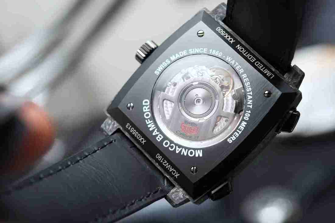 Replica TAG Heuer Monaco Automatic Chronograph Forged Carbon Bamford Edition Vintage Watch Review