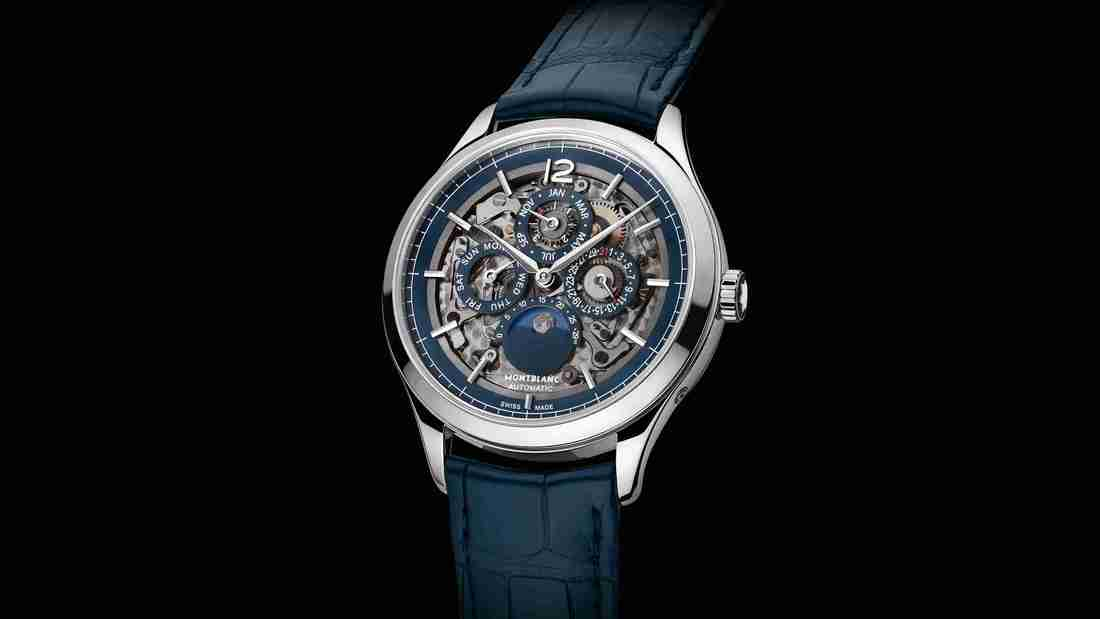 World Cup Special: Stainless Steel Montblanc Heritage Chronométrie Perpetual Calendar Sapphire 40mm Replica Watch